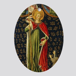 Benozzo Gozzoli - Saint Ursula with  Oval Ornament