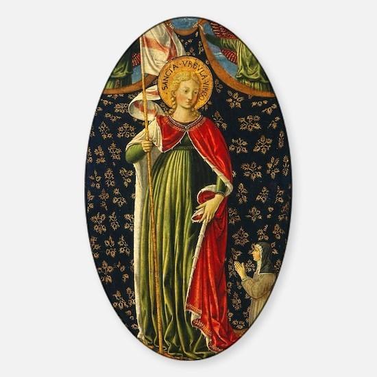 Benozzo Gozzoli - Saint Ursula with Sticker (Oval)
