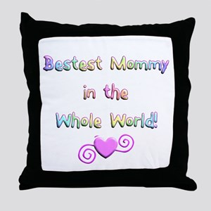 Bestest Mommy Throw Pillow