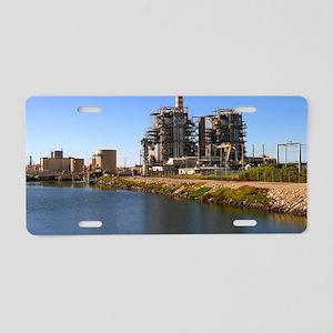 Power Station Aluminum License Plate