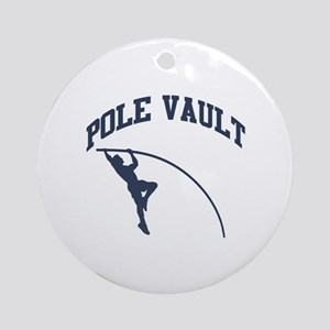 Pole Vault Ornament (Round)