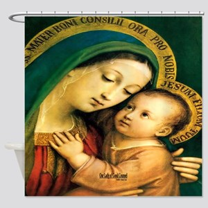 Our Lady of Good Counsel Shower Curtain