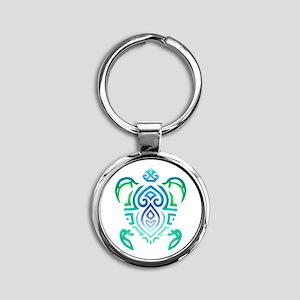 Tribal Turtle Keychains