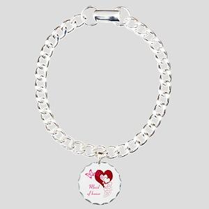 Maid Of Honor Charm Bracelet, One Charm