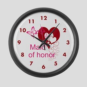 Maid Of Honor Large Wall Clock