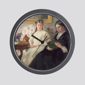 Berthe Morisot - The Mother and Sister  Wall Clock