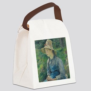 Camille Pissarro - Peasant Girl w Canvas Lunch Bag