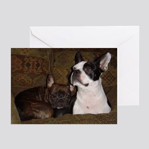 Frenchie & Boston.. Greeting Cards (Pk of 10)