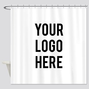 Custom Company Logo Shower Curtain