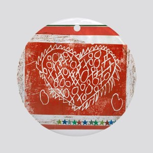 Art To Heart Star. Ornament (Round)