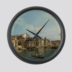 Canaletto - The Grand Canal in Ve Large Wall Clock