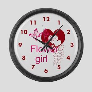 Flower Girl Large Wall Clock