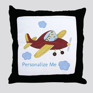 Airplane - Giraffe Throw Pillow