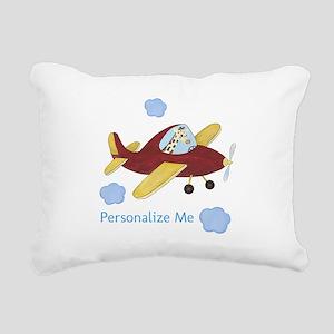 Airplane - Giraffe Rectangular Canvas Pillow