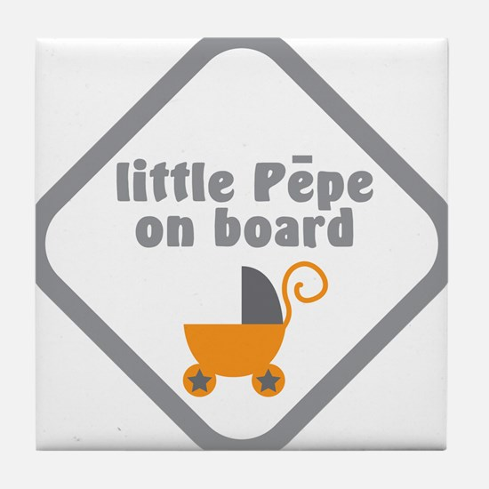 Little PEPE Maori baby on board with babies carria