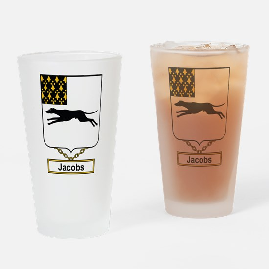 Jacobs Family Crest Drinking Glass