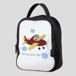 Personalized Airplane - Dinosaur Neoprene Lunch Ba