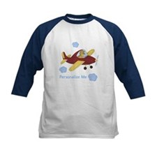 Personalized Airplane - Dinosaur Kids Baseball Jer