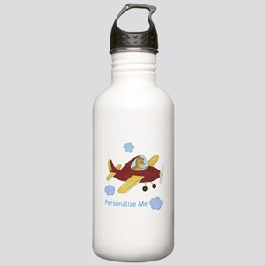 Personalized Airplane - Dinosaur Stainless Water B