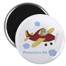 Personalized Airplane - Dinosaur Magnet