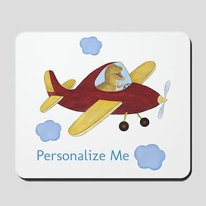 Personalized Airplane - Dinosaur Mousepad