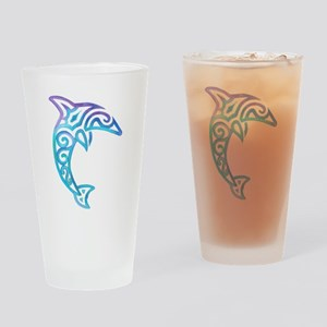 Tribal Dolphin Drinking Glass