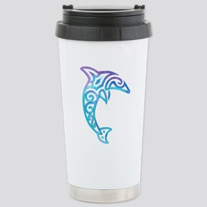 Tribal Dolphin Stainless Steel Travel Mug