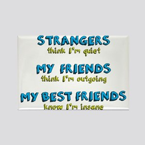 Strangers & Friends Rectangle Magnet