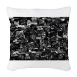 In the dark Woven Throw Pillow