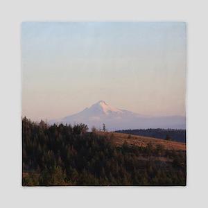 Mt Hood in The Early Morning Queen Duvet