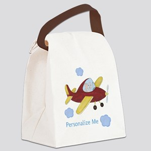 Personalized Airplane - Elephant Canvas Lunch Bag