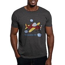 Personalized Airplane - Elephant Dark T-Shirt