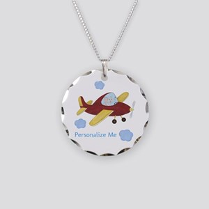 Personalized Airplane - Elephant Necklace Circle C