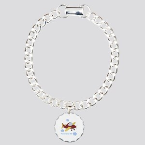 Personalized Airplane - Elephant Charm Bracelet, O