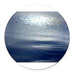 Dawn at sea Round Car Magnet