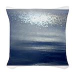 Dawn at sea Woven Throw Pillow