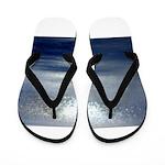 Dawn at sea Flip Flops