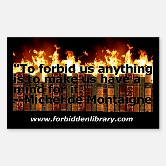 Forbidden Library Rectangle Decal