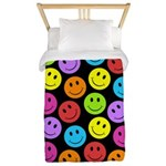 Happy Colorful Smiley Faces Pattern Twin Duvet