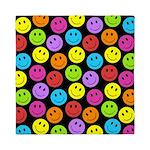 Happy Colorful Smiley Faces Pattern Queen Duvet