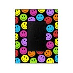 Happy Colorful Smiley Faces Pattern Picture Frame