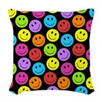Happy Colorful Smiley Faces Pattern Woven Throw Pi