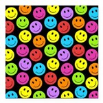 Happy Colorful Smiley Faces Pattern Square Car Mag