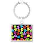 Happy Colorful Smiley Faces Pattern Landscape Keyc