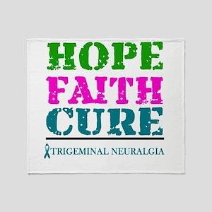 Hope Faith Cure Trigeminal Neuralgia Throw Blanket