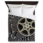 Reel and Clef Poster by Leslie Harlow Queen Duvet