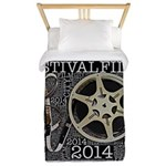 Reel and Clef Poster by Leslie Harlow Twin Duvet