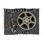 Reel and Clef Poster by Leslie Harlow Pillow Case