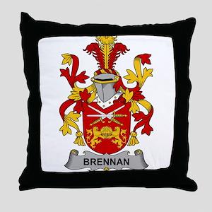 Brennan Family Crest Throw Pillow