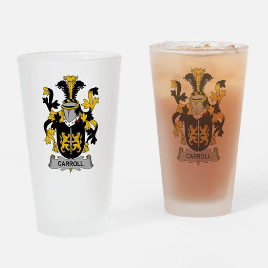 Carroll Family Crest Drinking Glass